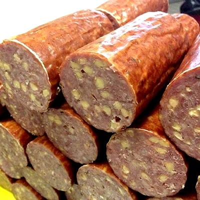 Downtown Meats cheddar summer sausage