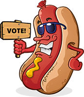 Downtown battle of the brats competition. The best brat flavors in the world compete here.